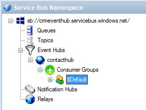 Service Bus Explorer Consumer Groups