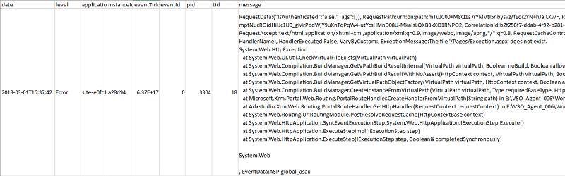 Dynamics 365 portal: New Release 8 4 0 265 – Portal Error Logs
