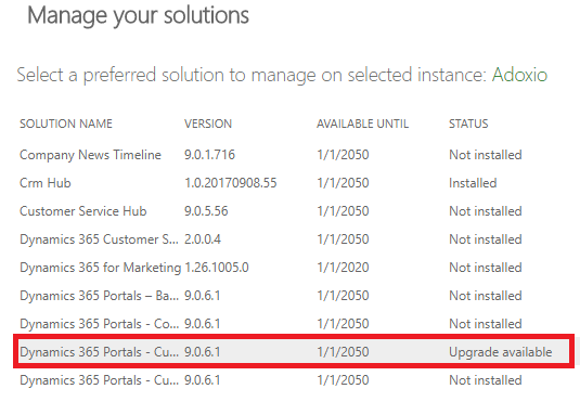 Dynamics 365 portals v9 solutions now available and liquid editor change –  Colin Vermander